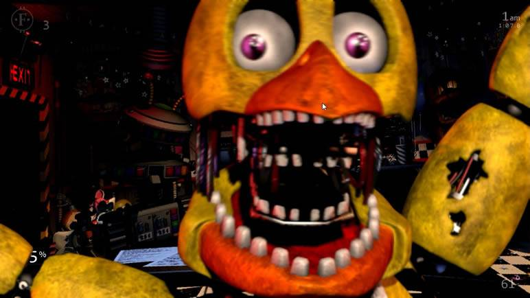 Withered Chica Jumpscare Ladies Night 3 UCN