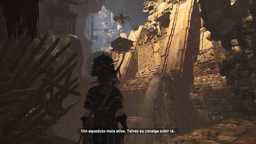 Aqueduto subterrâneo de Shadow of the Tomb Raider