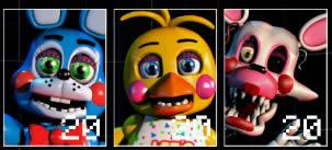 Toy Bonnie Toy Chica e Mangle