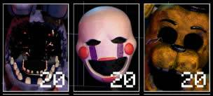 Withered Bonnie Marionette e Golden Freddy